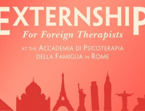 NEW • Externship per Terapeuti Stranieri • Iscrizioni Aperte per il 2020