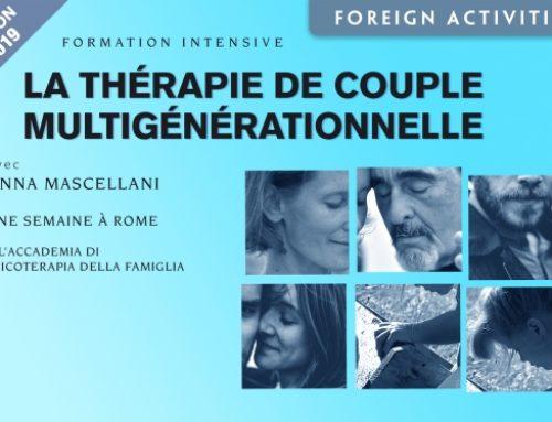 La Thérapie de Couple Multigénérationnelle • 3 / 7 juin 2019