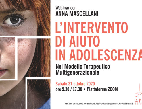 Webinar con Anna Mascellani | L'intervento di aiuto in adolescenza nel modello terapeutico multigenerazionale